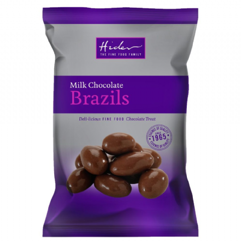 Milk Chocolate Coated Brazils Nuts - Hider Foods 100g